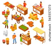Marketplace Isometric Set Of...
