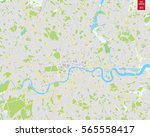 Vector Color Map Of  London ...