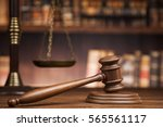 law theme  mallet of the judge  ... | Shutterstock . vector #565561117