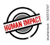 human impact rubber stamp....   Shutterstock .eps vector #565573747