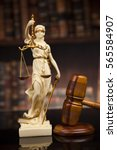 judge gavel and scales of... | Shutterstock . vector #565584907