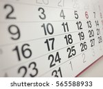 close up of business calendar | Shutterstock . vector #565588933