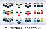 set of business people icons on ... | Shutterstock .eps vector #565599193
