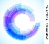 geometric frame  vector... | Shutterstock .eps vector #565605757