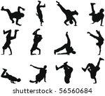 set of smooth break dance...