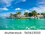 beautiful  caribbean sight with ... | Shutterstock . vector #565615033