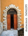 Old Elegant Door Front View...