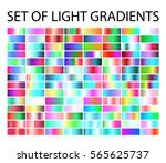 set of multicolored light... | Shutterstock .eps vector #565625737
