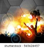 big party. dancing people | Shutterstock .eps vector #565626457