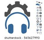 headphones configuration gear... | Shutterstock .eps vector #565627993