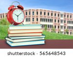 college campus as blurry... | Shutterstock . vector #565648543