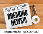breaking news    | Shutterstock . vector #565654987