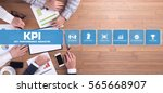 kpi key performance indicator... | Shutterstock . vector #565668907