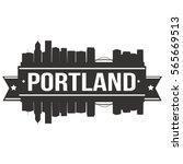portland skyline stamp skyline...   Shutterstock .eps vector #565669513