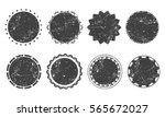 set of eight various round... | Shutterstock .eps vector #565672027