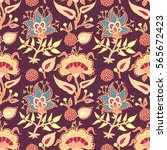 indian national paisley... | Shutterstock . vector #565672423