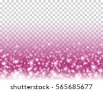 pink glitter particles and... | Shutterstock .eps vector #565685677