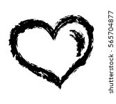 heart black hand drawn | Shutterstock .eps vector #565704877