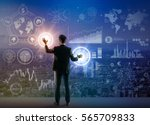futuristic graphical interface... | Shutterstock . vector #565709833