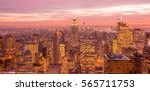 view of new york manhattan... | Shutterstock . vector #565711753