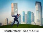 businessman carrying the burden ... | Shutterstock . vector #565716613
