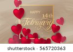 happy valentines day romantic... | Shutterstock .eps vector #565720363