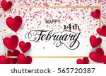 happy valentines day romantic... | Shutterstock .eps vector #565720387
