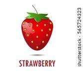 strawberry illustration.... | Shutterstock .eps vector #565724323