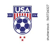 a classic usa shield with stars ... | Shutterstock .eps vector #565726327
