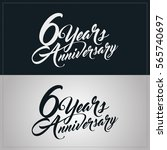 6 years anniversary celebration ... | Shutterstock .eps vector #565740697