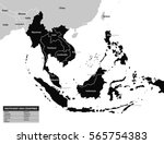 southeast asia map | Shutterstock .eps vector #565754383