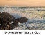 crashing waves    Shutterstock . vector #565757323