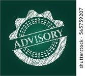 advisory chalkboard emblem | Shutterstock .eps vector #565759207