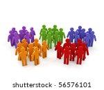 groups of people.   Shutterstock . vector #56576101