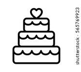 stacked wedding cake dessert...