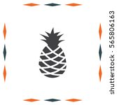 pineapple vector icon. tropical ... | Shutterstock .eps vector #565806163