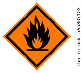 fire sign in orange rhombus | Shutterstock .eps vector #565809103