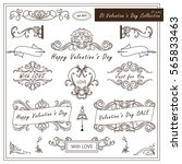 vector set of valentine day... | Shutterstock .eps vector #565833463