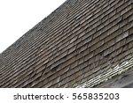 Closeup Of Cedar Shake Barn Roof