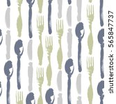 Seamless Pattern Of Forks ...