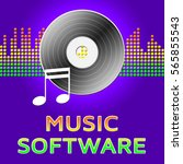 music software record disc ... | Shutterstock . vector #565855543