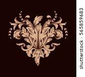 vintage baroque ornament retro... | Shutterstock .eps vector #565859683