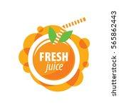 juice splash vector sign | Shutterstock .eps vector #565862443
