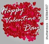 happy valentines day vector | Shutterstock .eps vector #565864507
