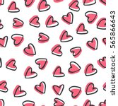 abstract seamless pattern of... | Shutterstock .eps vector #565866643