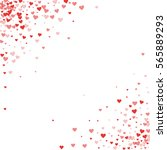 red hearts confetti. scatter... | Shutterstock .eps vector #565889293
