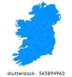 blue map of ireland | Shutterstock .eps vector #565894963