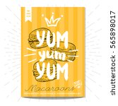 colorful macaroons label.... | Shutterstock .eps vector #565898017
