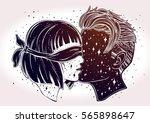 beautiful artwork of young... | Shutterstock .eps vector #565898647