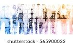 developing workforce or develop ... | Shutterstock . vector #565900033